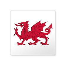 "Welsh Dragon Square Sticker 3"" x 3"""