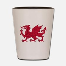 Welsh Dragon Shot Glass