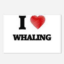 I love Whaling Postcards (Package of 8)