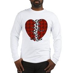 Halloween Bat Heart Long Sleeve T-Shirt