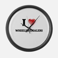 I love Wheeler-Dealers Large Wall Clock