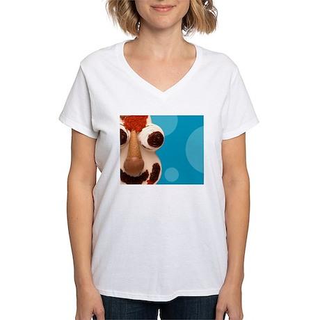 Cookie Puss Women's V-Neck T-Shirt