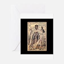 Virgen de Guadalupe - Posada Woodcut Greeting Card