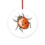 Ladybug Beetle Ornament (Round)