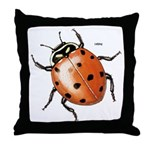 Ladybug Beetle Throw Pillow