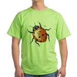 Ladybug Beetle Green T-Shirt