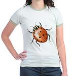 Ladybug Beetle (Front) Jr. Ringer T-shirt