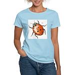 Ladybug Beetle (Front) Women's Pink T-Shirt