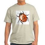 Ladybug Beetle (Front) Ash Grey T-Shirt