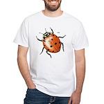 Ladybug Beetle (Front) White T-Shirt