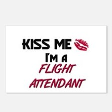 Kiss Me I'm a FLIGHT ATTENDANT Postcards (Package