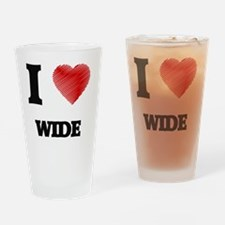 I love Wide Drinking Glass