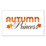 Autumn Princess Rectangle Sticker