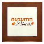 Autumn Princess Framed Tile