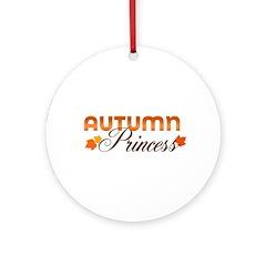 Autumn Princess Ornament (Round)