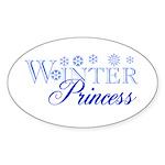 Winter Princess Oval Sticker