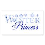 Winter Princess Rectangle Sticker