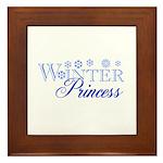 Winter Princess Framed Tile