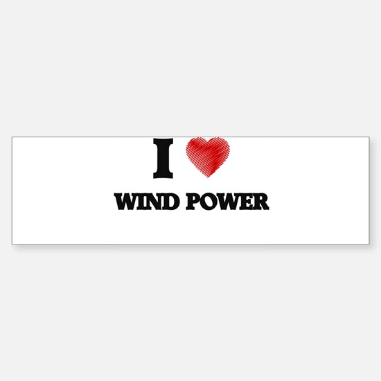 I love Wind Power Bumper Bumper Bumper Sticker