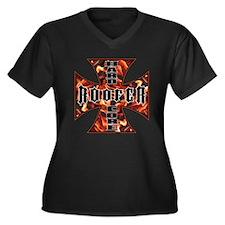 Unique Handyman Women's Plus Size V-Neck Dark T-Shirt