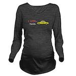 I Love Taxis Long Sleeve Maternity T-Shirt