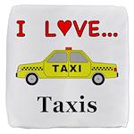 I Love Taxis Cube Ottoman