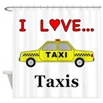 I Love Taxis Shower Curtain