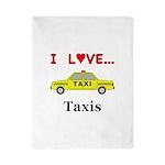 I Love Taxis Twin Duvet