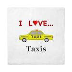 I Love Taxis Queen Duvet