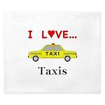 I Love Taxis King Duvet