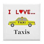 I Love Taxis Tile Coaster