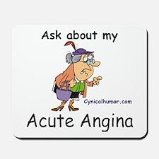 acute angina a cute vagina Mousepad