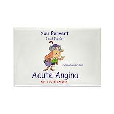 Acute angina, a cute vagina Rectangle Magnet