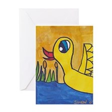 Simon's Graceful Duckie Greeting Card