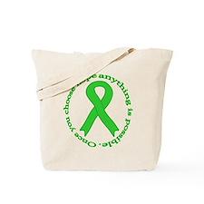 Lime Green Hope Tote Bag