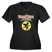 Wicked Witch Women's Plus Size V-Neck Dark T-Shirt