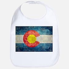 Colorado State flag retro style vintage Bib