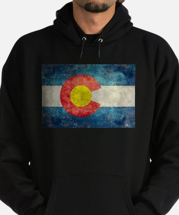 Colorado State flag retro style vint Hoodie (dark)