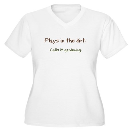 Plays in Dirt Women's Plus Size V-Neck T-Shirt