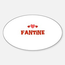Fantine Oval Decal