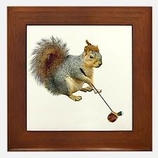 Squirrel Acorn Golf Framed Tile