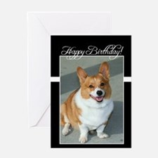 happy birthday welsh corgi Greeting Cards