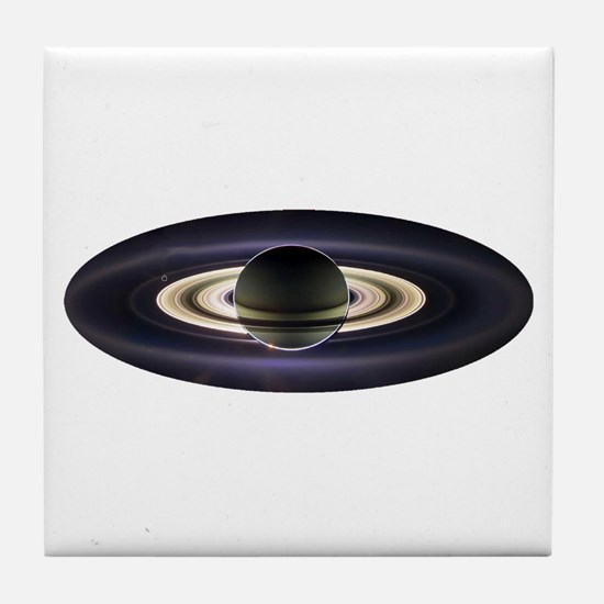 Earth From Saturn Tile Coaster