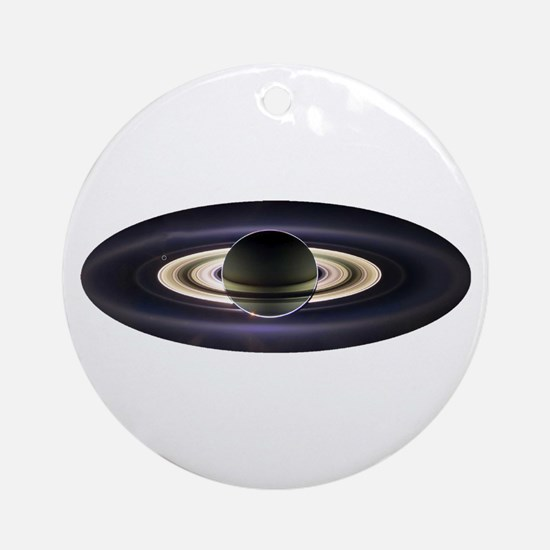 Earth From Saturn Round Ornament