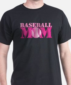 Baseball Mom pink T-Shirt