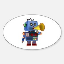 Blue toy robot with bullhorn Decal