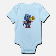 Blue toy robot with bullhorn Body Suit