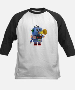 Blue toy robot with bullhorn Baseball Jersey