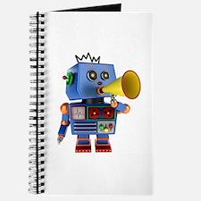 Blue toy robot with bullhorn Journal