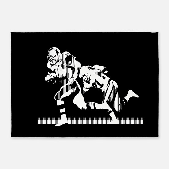 Football Players Tackle 5'x7'Area Rug